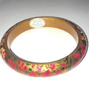 Jewelry - Vintage Hand painted bangle
